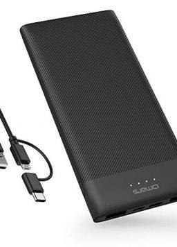 10000mAh USB C Battery Pack Slim ompatible with iPhone Xs/XR/XS Max/X, iPad, Galaxy S9