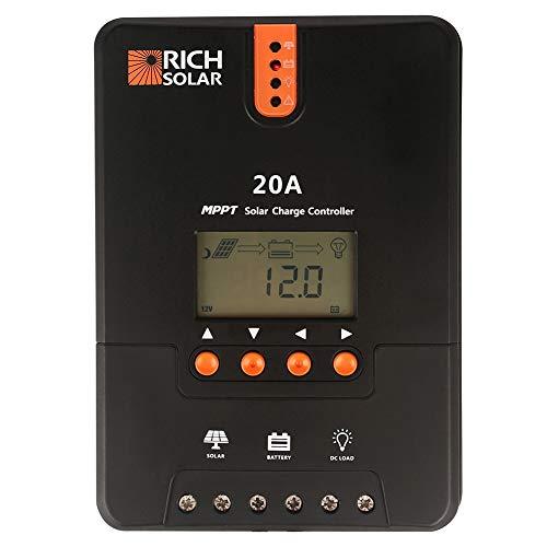 RICH SOLAR 20 Amp 12V/24V DC Input MPPT Solar Charge Controller