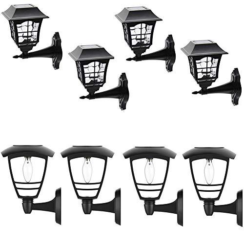 Maggift 12 Lumens Solar Wall Lantern, 2 Pack