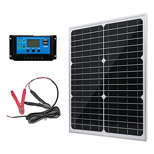 20W 12V Solar Panel Battery Charger Kit