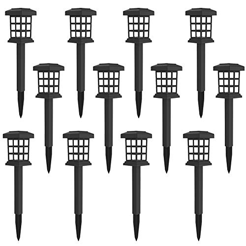 MAGGIFT 12 Pack Solar Pathway Lights Outdoor LED