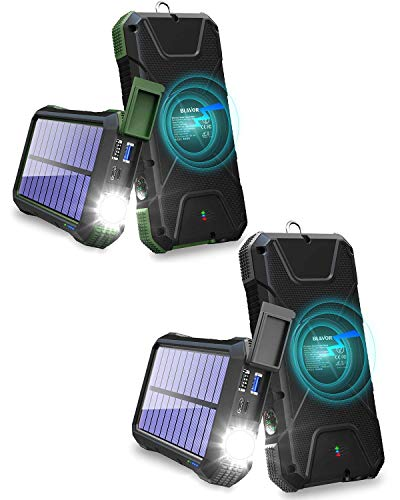 Two Packs-20,000mAh Solar Charger Power Bank