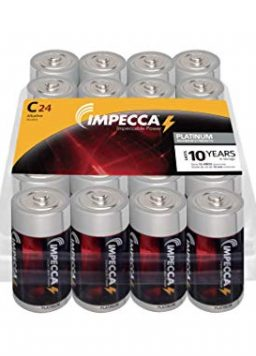 IMPECCA C Batteries, All-Purpose Alkaline Batteries