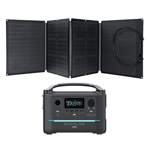 Portable Power Station with 110W Solar Panel