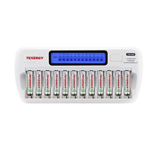 Combo: TN160 12-Bay AA/AAA NiMH/NiCD LCD Charger +12xAAA Centura