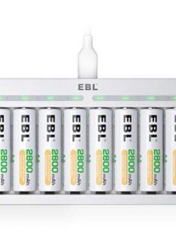 EBL Rechargeable AA Batteries 2800mAh 8 Pack
