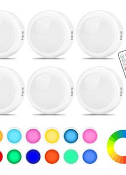 Battery LED Color Changing Puck Lightings and Dimmable