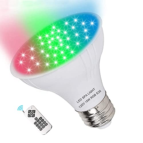 Dari LED Spa Light Bulb 120V RGB 15W Color Changing LED