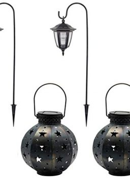MAGGIFT 26 Inch Hanging Solar Lights Dual Use
