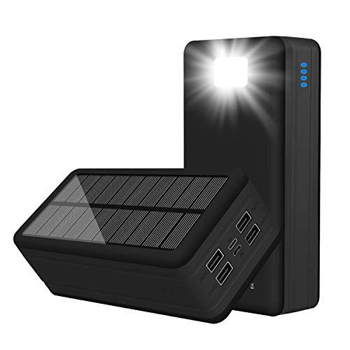 C USB Solar Power Bank 50000mAh 4 Output 2 Input Ports