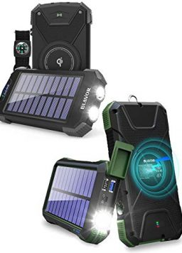 10,000mAh Solar Power Bank for Cell Phone Plus