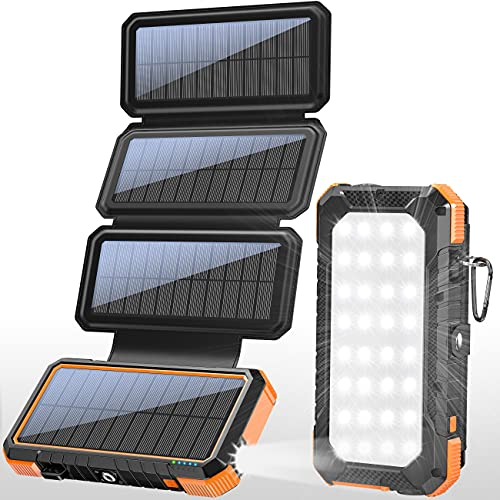 PD 18W Solar Panel Charger QC 3.0 Fast Charging Power Bank