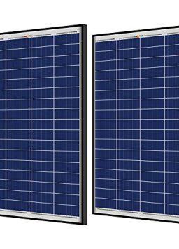 RICH SOLAR 2 Pieces 100 Watt 12 Volt Polycrystalline Solar Panel