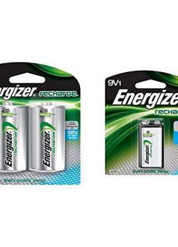 EnergizerRechargeable D Batteries, NiMH, 2500 mAh