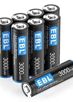 3000mAh 1.5V Lithium AA Batteries for Digital Cameras, Remote Control