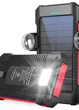 Solar Power Bank, LATIMERIA Portable Solar Charger 26800mAh