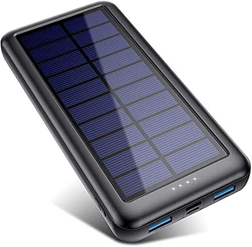 Solar Charger 33800mAh, Feob Portable Charger Power Bank