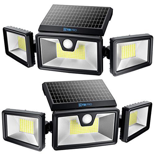 TBI Security Solar Lights Outdoor 216 LED 2200LM, 6500K