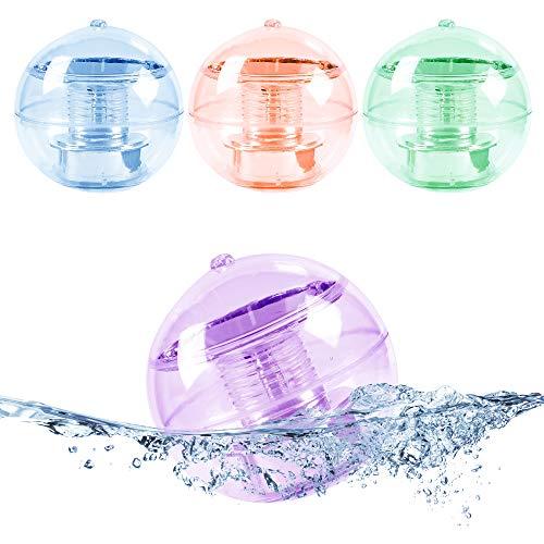 MAGGIFT 4 Pack Solar Floating Ball Lights
