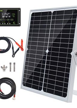 Topsolar 20W 12V Solar Panel kit Battery Charger Maintainer