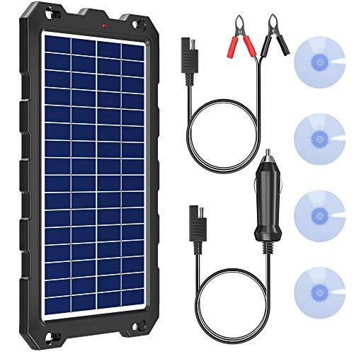 POWOXI Solar Battery Charger 12 Volt 10W Solar Panel Kit
