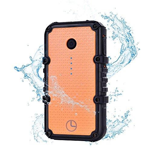 Luxtude Waterproof Power Bank Portable Charger