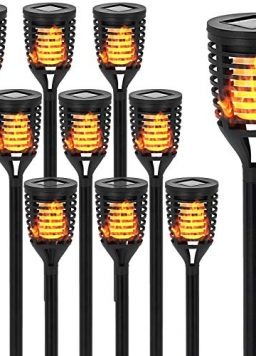 10PK Mini Solar Torch Light with Dancing Flickering Flame