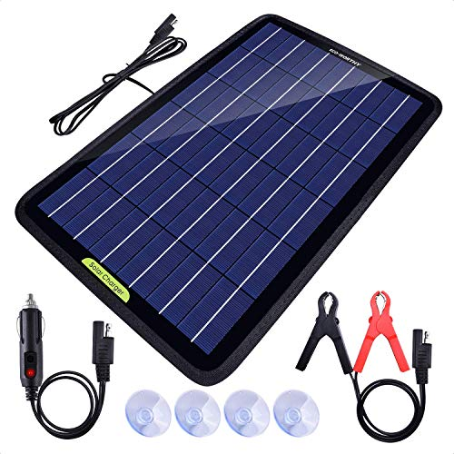 ECO-Worthy 12 Volt 10 Watt Solar Battery Charger, Maintainer