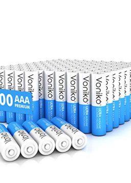 VONIKO - Premium Grade AAA Batteries -100 Pack