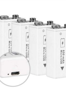 BESTON Rechargeable 9V Batteries