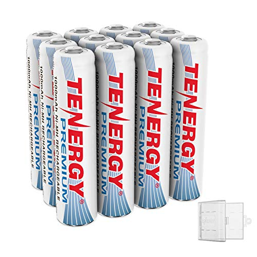 Tenergy 12 Pack Premium Rechargeable AAA Batteries