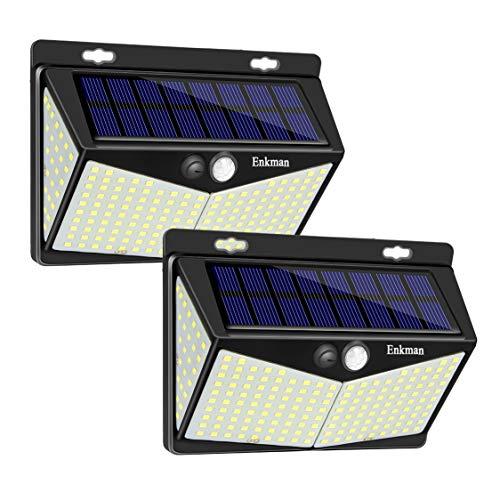 Enkman Solar Lights Outdoor 208 LED,Wireless Motion Sensor Lights