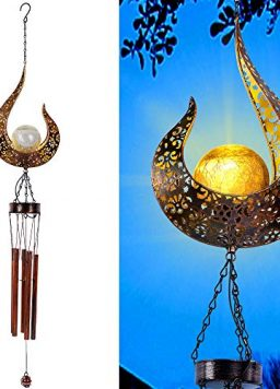 MAGGIFT Outdoor Solar Wind Chime for Hanging