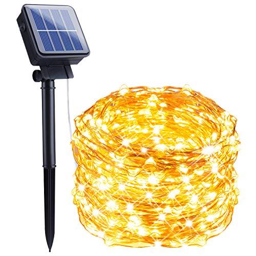 Outdoor Solar String Lights, 33Feet 100 Led Solar