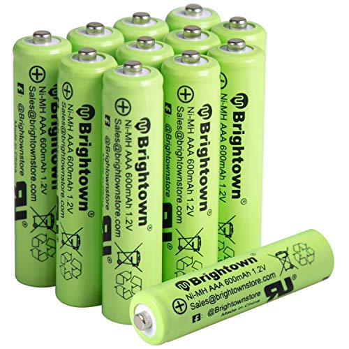 NiMH Rechargeable AAA Battery Pack of 12
