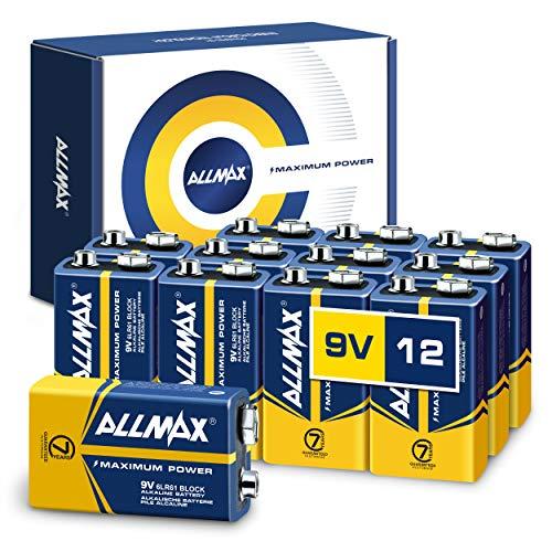 9V Maximum Power Batteries Long-Lasting