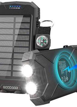 Solar Charger Wireless Power Bank, Ultra-Compact External Battery