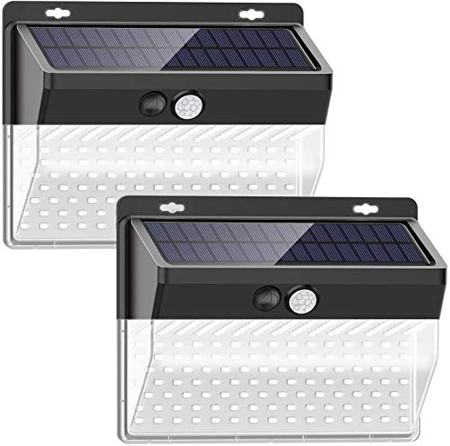 SEZAC Solar Security Outdoor Lights 270° Wide Angle