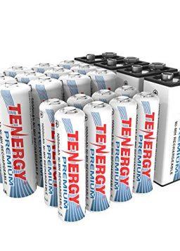 12xAA 8xAAA 4x9V High Capacity NiMH Rechargeable Battery Combo
