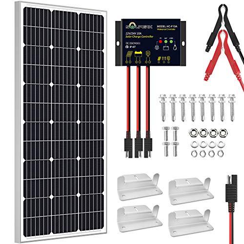 SOLPERK 100W Solar Panel 12V, Monocrystalline Solar Panel Kit