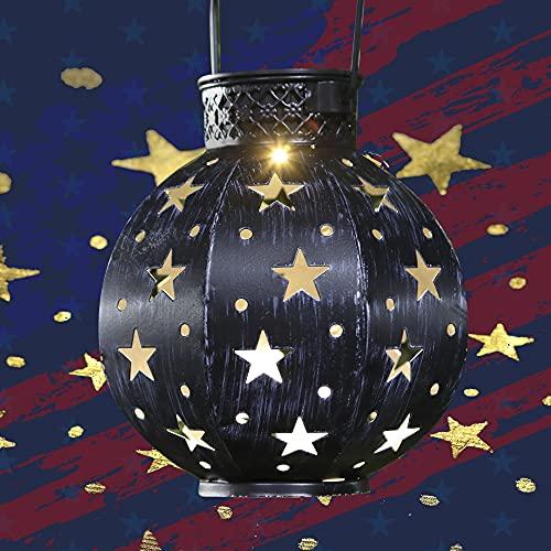 Maggift 2 Pack Star Solar Lantern Solar Powered Decorative