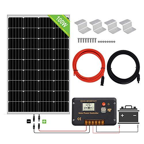 ECO-WORTHY Controller 100W Solar Panel Kit