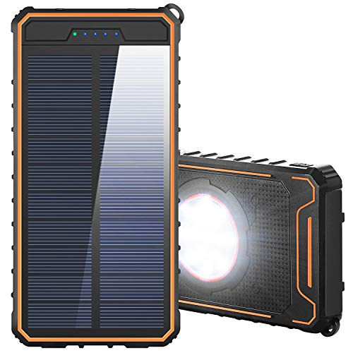 Solar Charger 15000mAh Power Bank with Dual USB