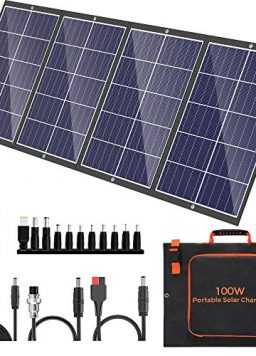 100W Portable Solar Panel Kit with Stand Foldable