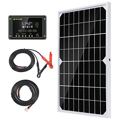 Topsolar Solar Panel Kit 10W 12V Monocrystalline