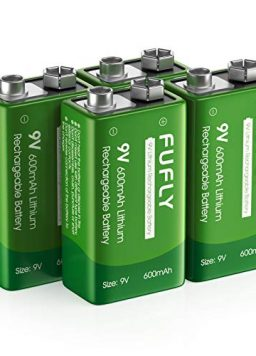 Fufly Rechargeable 9v Lithium Batteries 600mAh