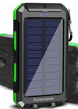 Solar Charger, Durecopow 20000mAh Portable Outdoor Waterproof