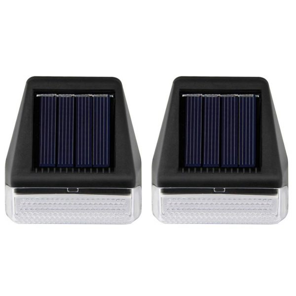 MAGGIFT 2 Pack Solar Step Lights Outdoor Waterproof