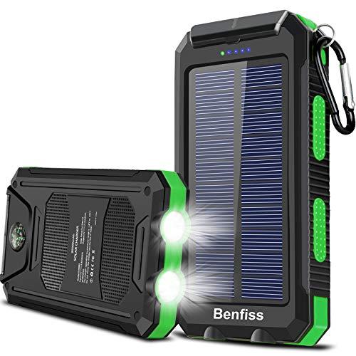 Solar Charger 20000mAh, BENFISS Ultra Durable Solar Power Bank