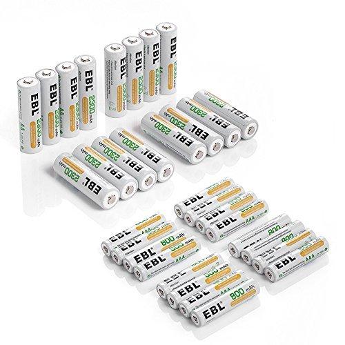 EBL Basic Rechargeable Batteries - AA Battery 2300mAh